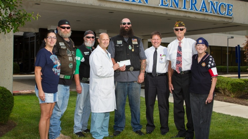 Motorcycle group, VFW donate to cancer center | WTOV