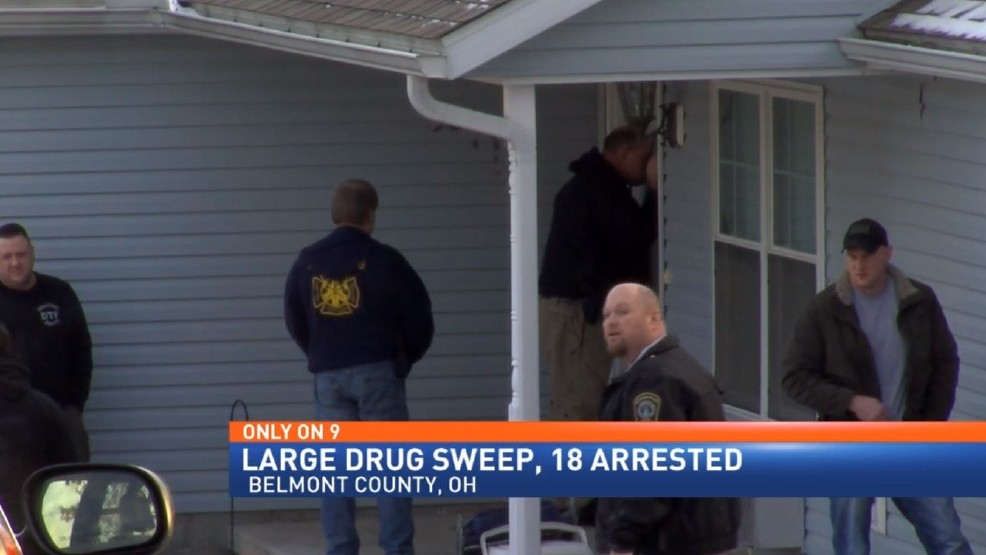 18 people arrested after drug sweep in Belmont County | WTOV